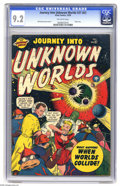 Golden Age (1938-1955):Science Fiction, Journey Into Unknown Worlds #37 (#2) (Atlas, 1950) CGC NM- 9.2Off-white pages. This isn't just the highest-graded copy of t...