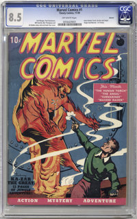 Marvel Comics #1 Denver pedigree (Timely, 1939) CGC VF+ 8.5 Off-white pages. This is one of the most amazing comic books...