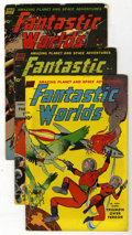 Golden Age (1938-1955):Science Fiction, Fantastic Worlds #5-7 Group (Standard, 1952-53).... (Total: 3 ComicBooks)