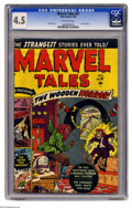"Golden Age (1938-1955):Horror, Marvel Tales #97 (Atlas, 1950) CGC VG+ 4.5 Off-white pages. SunGirl story. Overstreet notes, ""one story used in N.Y. State ..."