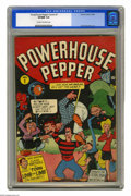 Golden Age (1938-1955):Cartoon Character, Powerhouse Pepper Comics #1 (Timely, 1943) CGC VF/NM 9.0 Cream tooff-white pages. Basil Wolverton's bizarre (and bizarrely ...
