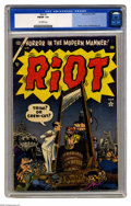 Golden Age (1938-1955):Humor, Riot #1 (Atlas, 1954) CGC FN/VF 7.0 Off-white pages. This may look like a horror mag at first glance, but it's actually a ...
