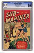Golden Age (1938-1955):Superhero, Sub-Mariner Comics #25 (Timely, 1948) CGC VF 8.0 Off-white to white pages. Namora makes an appearance in this issue, which a...
