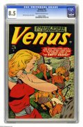 Golden Age (1938-1955):Horror, Venus #15 (Atlas, 1951) CGC VF+ 8.5 Cream to off-white pages.Gerber's The Photo-Journal Guide to Comic Books doesn't de...