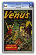 Golden Age (1938-1955):Horror, Venus #17 (Atlas, 1951) CGC VF 8.0 Off-white pages. Timely/Atlashad a knack for oddball characters, covers, and in this cas...