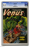 "Golden Age (1938-1955):Horror, Venus #18 (Atlas, 1952) CGC VF+ 8.5 White pages. While this titlebegan as a ""good girl"" series, by this second-to-last issu..."