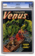 Golden Age (1938-1955):Horror, Venus #18 (Atlas, 1952) CGC FN 6.0 Off-white to white pages. It'spre-Code horror time, with Bill Everett contributing both ...