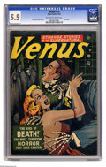 Golden Age (1938-1955):Horror, Venus #19 (Atlas, 1952) CGC FN- 5.5 Off-white to white pages. Youhave to admire the pluck of Venus -- in issue #1 she had h...