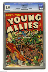 Young Allies Comics #11 (Timely, 1944) CGC VF 8.0 Off-white pages. Our VF offering is the highest-graded copy that CGC h...