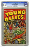 Golden Age (1938-1955):Superhero, Young Allies Comics #13 (Timely, 1944) CGC VF 8.0 Off-white pages. Pretty copy, one of just four unrestored copies that CGC ...