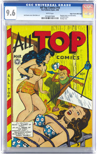 All Top Comics #10 Mile High pedigree (Fox Features Syndicate, 1948) CGC NM+ 9.6 White pages. A Fox comic in even NM- co...