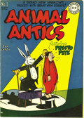 Golden Age (1938-1955):Funny Animal, Animal Antics #1 and 3 Mile High pedigree Group (DC, 1946). Issue#1 is FN/VF (1/4-inch spine split); issue #3 is NM-. Appro...(Total: 2 Comic Books)
