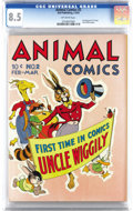 Golden Age (1938-1955):Funny Animal, Animal Comics #2 (Dell, 1943) CGC VF+ 8.5 Off-white pages. UncleWiggily begins in this issue and Pogo Possum by Walt Kelly ...