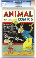 Golden Age (1938-1955):Funny Animal, Animal Comics #3 (Dell, 1943) CGC VF- 7.5 Cream to off-white pages.Pogo Possum's third appearance. Uncle Wiggily's second a...