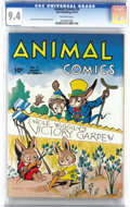 Golden Age (1938-1955):Funny Animal, Animal Comics #4 (Dell, 1943) CGC NM 9.4 Off-white pages. UncleWiggily puts in an appearance as Pogo Possum bows out for on...