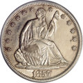 Seated Half Dollars, 1857-S 50C MS61 PCGS....