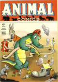 Golden Age (1938-1955):Funny Animal, Animal Comics #10 File Copy (Dell, 1944) Condition: Apparent VF/NM.Pogo appearance. Walt Kelly cover and art. Minor glue on...