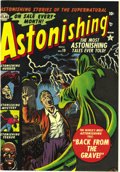 Golden Age (1938-1955):Horror, Astonishing #19 Mile High pedigree (Atlas, 1952) Condition: NM-.Holding an unslabbed Mile High copy is one of the great thr...