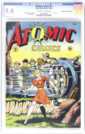 Golden Age (1938-1955):Miscellaneous, Atomic Comics #4 Mile High pedigree (Green Publishing Co., 1946) CGC NM 9.4 Off-white to white pages. Staring at the stunnin...