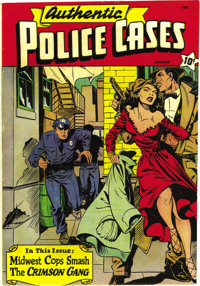 Authentic Police Cases #10 (St. John, 1950) Condition: VF/NM. Matt Baker is credited with two stories in this true-crime...