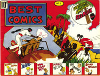 Best Comics #1 (Better Publications, 1939) Condition: FN/VF. This is the first time we've seen this comic, which is rate...