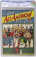 Golden Age (1938-1955):Superhero, Big All-American Comic Book #1 San Francisco pedigree (DC, 1944) CGC VF/NM 9.0 White pages. One of the highlights of this st...