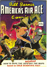 Bill Barnes Comics #7 Mile High pedigree (Street & Smith, 1942) Condition: NM-. In retrospect, the caption of this b...