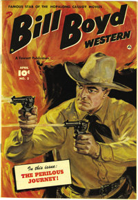 Bill Boyd Western #2 Mile High pedigree (Fawcett, 1950) Condition: NM. The painted cover by Norman Saunders really sets...