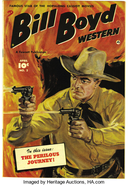Bill Boyd Western #2 Mile High pedigree (Fawcett, 1950) Condition: NM. The painted cover by Norman Saunders really sets this...