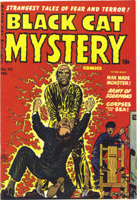 Black Cat Mystery #33 Mile High pedigree (Harvey, 1952) Condition: NM. The book Parade of Pleasure gave this issue a men...