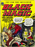 Golden Age (1938-1955):Horror, Black Magic Album #1 (Arnold Book Co., circa 1954) Condition: FN.This square bound British edition is by the same publisher...