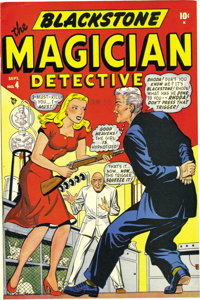 Blackstone, the Magician #4 Mile High pedigree (Timely, 1948) Condition: NM-. The Mile High copy of a Timely book is alw...