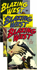 Golden Age (1938-1955):Western, Blazing West Group - Mile High pedigree (ACG, 1948-51). Issues #1(NM-), #2 (NM+), #3 (VF/NM), #4 (VF/NM), #5 (NM+), #6 (NM)...(Total: 17 Comic Books)