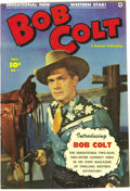Golden Age (1938-1955):Western, Bob Colt #1 Mile High pedigree (Fawcett, 1950) Condition: NM-.Photo front and back covers grace this issue. Overstreet 2006...