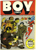 Golden Age (1938-1955):Superhero, Boy Comics #12 Mile High pedigree (Lev Gleason, 1943) Condition: NM-. This issue's hard-hitting torture cover is by editor C...
