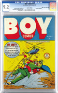 Golden Age (1938-1955):Superhero, Boy Comics #14 Mile High pedigree (Lev Gleason, 1944) CGC NM- 9.2 White pages. Crimebuster was never more exciting than when...