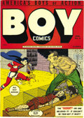 Golden Age (1938-1955):War, Boy Comics #15 Mile High pedigree (Lev Gleason, 1944) Condition: NM-. One of the key issues of the run, this book has the de...