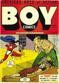 Boy Comics #15 Mile High pedigree (Lev Gleason, 1944) Condition: NM-. One of the key issues of the run, this book has th...