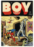 Golden Age (1938-1955):Superhero, Boy Comics #16 Mile High pedigree (Lev Gleason, 1944) Condition: NM-. Crimebuster leads this issue's cast of boy heroes. The...