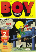 Golden Age (1938-1955):Superhero, Boy Comics #26 Mile High pedigree (Lev Gleason, 1946) Condition: NM. Some awfully violent stuff happened on some of these Le...