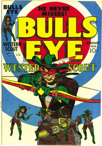 Bulls Eye #1 Mile High pedigree (Mainline Publications, 1954) Condition: VF+. Simon and Kirby contributed the cover art...