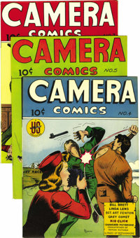 Camera Comics Group - Mile High pedigree (U. S. Camera Publishing Corp., 1944-46). The oddball covers alone would make t...
