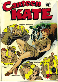 Canteen Kate #1 (St. John, 1952) Condition: VF. Matt Baker didn't sign his work too often, but this cover was one of tho...