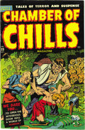 "Golden Age (1938-1955):Horror, Chamber of Chills #23 (#3) (Harvey, 1951) Condition: VF/NM. Thispre-Code horror book doesn't hold back -- ""Excessive violen..."