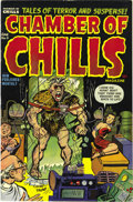 Golden Age (1938-1955):Horror, Chamber of Chills #9 (Harvey, 1952) Condition: VF/NM. A bondagecover is followed by strangling, bludgeoning, bloodstained a...