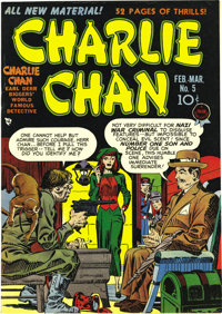 Charlie Chan #5 Mile High pedigree (Crestwood/Headline, 1949) Condition: NM. The black cover of this Edgar Church copy l...