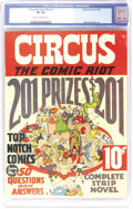 Golden Age (1938-1955):Humor, Circus the Comic Riot #1 (Globe Syndicate, 1938) CGC VF 8.0 Cream to off-white pages. Very early work by Basil Wolverton, Wi...