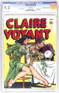 Golden Age (1938-1955):Crime, Claire Voyant #4 Mile High pedigree (Pentagon, 1947) CGC NM- 9.2 White pages. Check out the page quality of this Edgar Churc...