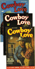 Golden Age (1938-1955):Romance, Cowboy Love Group - Mile High pedigree (Fawcett, 1949-51). Here'syet another chance to snag five Edgar Church books with on...(Total: 5 Comic Books)