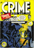 """Golden Age (1938-1955):Crime, Crime Does Not Pay #27 Mile High pedigree (Lev Gleason, 1943) Condition: NM-. This issue's Charles Biro """"body-disposal"""" cove..."""